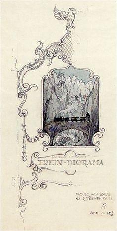 Anton Pieck - Trein Diorama