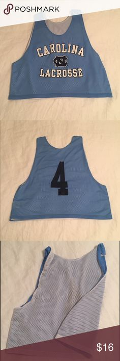 North Caroline Lacrosse Pinnie Light blue lax pinnie. Loose, sporty, reversable. Other