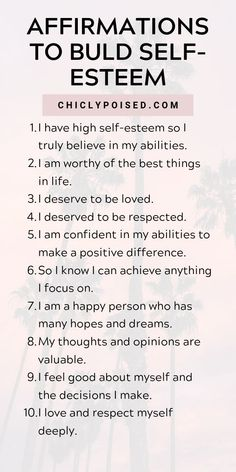 Using The Law Of Attraction And Positive Affirmations To Build Self-Esteem