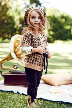 Love this entire houndstooth collection from Janie and Jack. Too bad they are sold out of the beret! :(