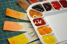 Setting up a new watercolor palette