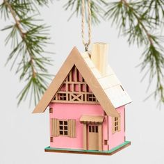 Laser Cut Wood House Ornaments Set of 3 - v1