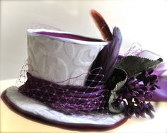 "Mini Top Hat ""Violette"" by TutusChic at Etsy"