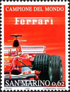 F2004 Postage Stamp Collection, Postage Stamp Art, Stamp Collecting, My Stamp, Ephemera, Classic Cars, Ferrari F1, Formula 1, Trains
