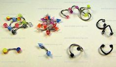 3 piece industrial piercing | Yellow Howlite Organic Gauges and Eyebrow Piercings Jewelry
