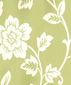 WALLPAPER BY THE YARD Contemporary White Floral Light Green Abstract Botanical