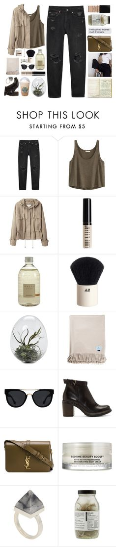 """Untitled #2652"" by tacoxcat ❤ liked on Polyvore featuring Monki, H&M, Étoile Isabel Marant, Lord & Berry, Culti, Quay, Studio Pollini, Yves Saint Laurent, Oskia and Kelly Wearstler"
