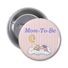 Sweet Baby Shower Mommy Pin Button