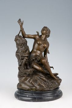 Western Statues Art Nude Sexy Enslaved Beautiful Girl Bronze Belly Sculpture Household Figures Fashion Arts and Crafts $421.98