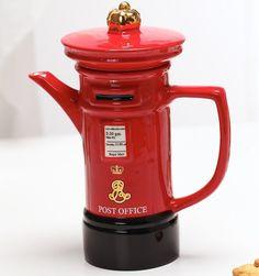 British London Mailbox Ceramic Teapot