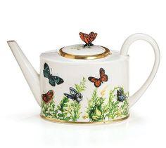 Butterfly Wings Of Grace Ceramic Teapot