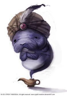 DAY 291. Manatee Genie by Cryptid-Creations.deviantart.com on @deviantART