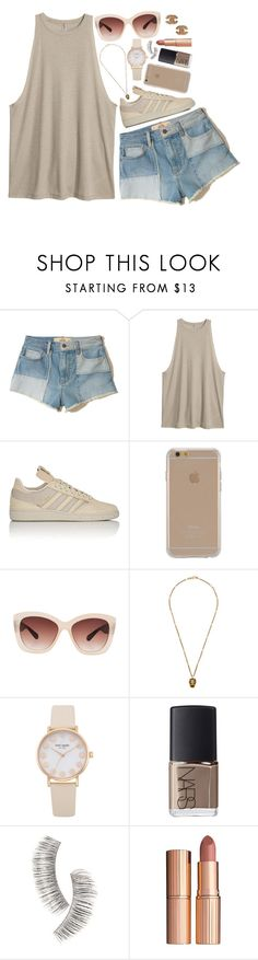 """Untitled #1779"" by ibthal-hussain ❤ liked on Polyvore featuring Hollister Co., H&M, adidas, Agent 18, Eloquii, Gucci, NARS Cosmetics, Beauty Is Life, Charlotte Tilbury and Chanel"