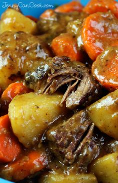 Old Fashioned Beef Stew recipe from Jenny Jones (JennyCanCook) ...with meat so tender you can eat it with a spoon!