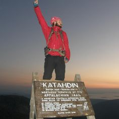 On top of Mt. Kathadin, after walking 2186 Miles to get there