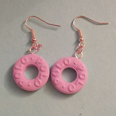 Lilac Polo Earrings - handmade from fimo polymer clay. fimo food