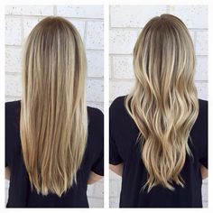 Bright Blonde Balayage - Straight or Curly - JACKSONVILLE BEACH FL 32250 @frangipanihairstudio