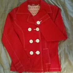 I just discovered this while shopping on Poshmark: Mod short trench. Check it out! Price: $16 Size: M