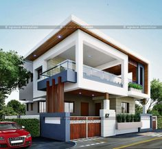 The interesting Modern Residential House Bungalow Exterior Arsagar Inside The Most Brilliant Bungalow Exterior Design image below, is section of … Bungalow House Design, House Front Design, Modern House Design, Modern Bungalow Exterior, Modern Residential Architecture, Architecture Design, Mediterranean Architecture, Independent House, Appartement Design