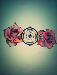 Roses , compas