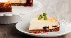 Cheesecake de mascarpone e cerejas Amarena