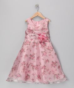 Take a look at this Dusty Rose Floral A-Line Dress - Toddler & Girls by Cinderella Couture on #zulily today!