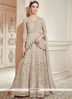 Excited to share this item from my shop: Pakistani wear indo western style wedding lahenga choli gown typ indo western lehenga choli Designer Salwar Kameez, Designer Anarkali, Designer Gowns, Beige Wedding, Desi Wedding, Wedding Suits, Wedding Wear, Wedding Themes, Anarkali Gown