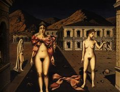 Nodes Rose  - Paul Delvaux