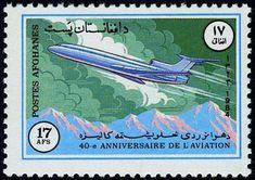 Stamp: Tupolev TU-154 (Afghanistan) (40th anniv of National Aviation) Mi:AF 1358,Sn:AF 1095,Yt:AF 1180 #colnect #collection #stamps