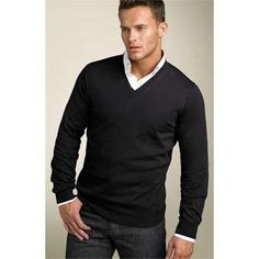 """This I can see. Classy fitting Jeans/""""slacks"""", Undershirt, Simple colored shirt, Somewhat form-fitting sweater on top."""