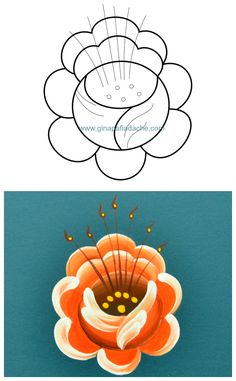 Atelier Gina Pafiadache: Rosa em Bauernmalerei 2