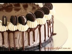 cookies and cream mousse (no bake cheese cake) - YouTube