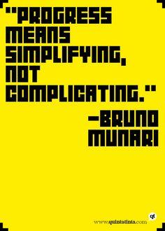 Bruno Munary on Progress and Simplicity