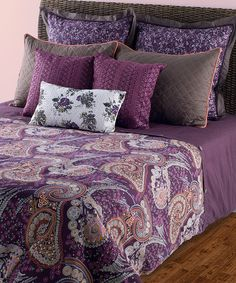 Take a look at this Purple & Gray Duvet Set by Rizzy Home on #zulily today!