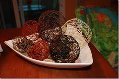 DIY woven rattan balls! I am SO starting on these tonight!!