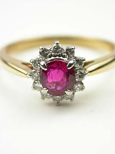Ruby and Diamond Vintage Ring by Tiffany & Co.