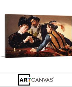 ARTCANVAS Medusa Sheild 1597 Black Background Canvas Art Print by Caravaggio