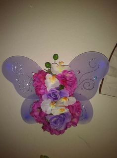 Diy Large Butterfly Used Fairy Wings From Dollar Tree And