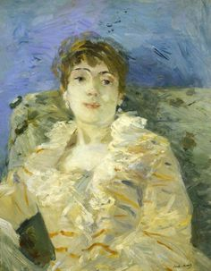 Girl on a Divan ~ Berthe Morisot ~ (French: 1841-1895)