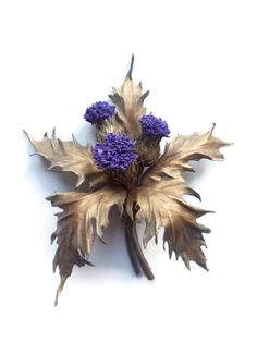 Scottish jewelry Thistle brooch Mother's Day Jewelry