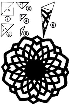 Pin on Chinese Paper-cutting Pin on Chinese Paper-cutting Paper Snowflake Template, Paper Snowflake Patterns, Paper Cutting Patterns, Paper Cutting Templates, Paper Snowflakes, Origami Templates, Paper Patterns, Box Templates, Doll Patterns