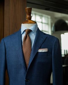 Textured playful blues by Ring Jacket. (at The Armoury Hong Kong)