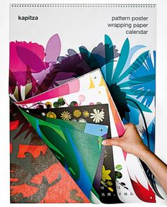 wrapping paper poster calendar by http://kapitza.com/products/wrapping-paper-poster-calendar/