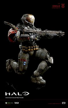 3A x HALO Emile A-239 Spartan-III hits www.bambalandstore.com on August 30th, 9:00AM Hong Kong time for 220USD. Figure stands 13.5 inches tall. #Halo #HaloReach #Spartan #Gaming #Collectibles #Bambalandstore