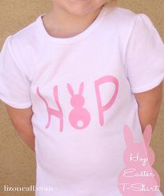 Easter Hop T-shirt using iron on vinyl
