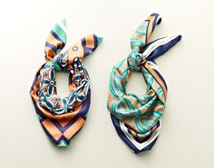How to tie a scarf: Silk Scarves