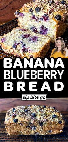 Make an easy blueberry banana bread with nuts. Use pecans or walnuts in this incredibly moist blueberry banana bread recipe. | sipbitego.com Blueberry Banana Bread, Make Banana Bread, Banana Bread Recipes, Banana Bread Ingredients, Easy Brunch Recipes, Fruit Bread, Pecan Recipes, Toasted Pecans, Frozen Blueberries