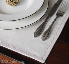 Drop cloth placemats