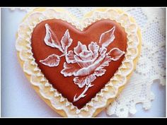 Valentine's Day cookie...Icing Rose - YouTube