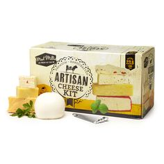 Artisan cheese kit - Packed with the tools and ingredients needed to make 15 fresh and aged hard cheeses at home, this is the grand fromage of DIY cheese kits. Just add milk! The kit includes real cheesemaking culture and vegetarian rennet. Gifts For Cooks, Food Gifts, Cheese Wax, Spreadable Cheese, Cheese Maker, Artisan Cheese, Food Staples, How To Make Cheese, Simple Living